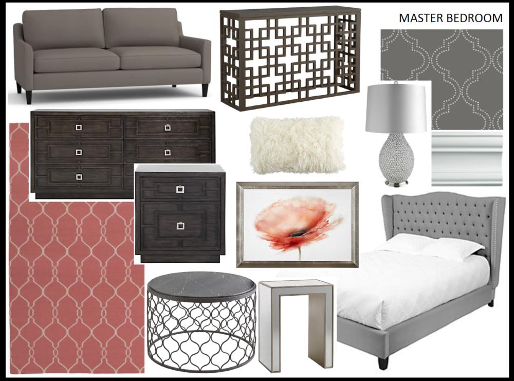 Master Bedroom Design Concept - Marilyn Ashley Design Associates