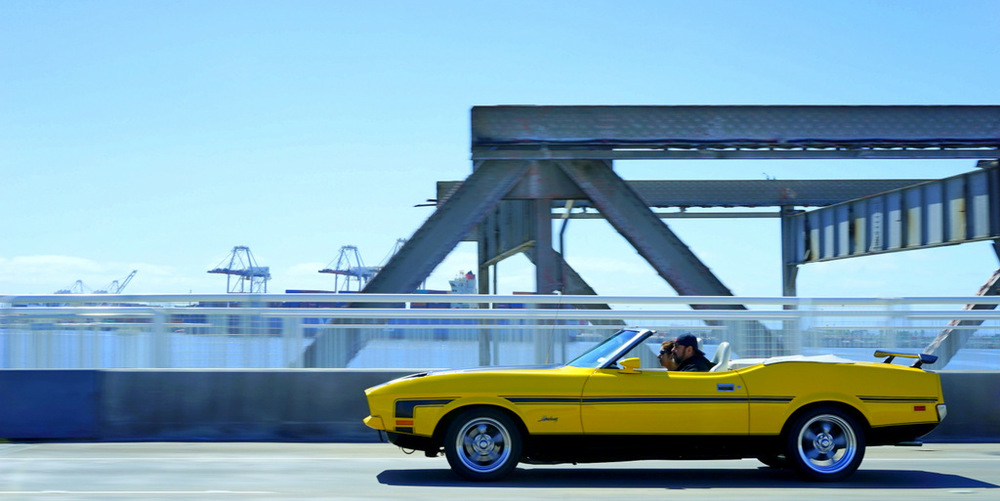 This car was like an Easter egg on wheels over the Bay Bridge the next day, en route to my mom's for Sunday supper.