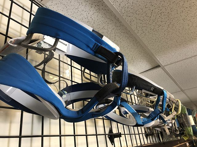 It's the perfect time to get outfitted with some new climbing gear! We just got a huge restock of black diamond harnesses and equipment in our gear shop! Stop by today and let one of our staff get you sized for a comfy new harness!