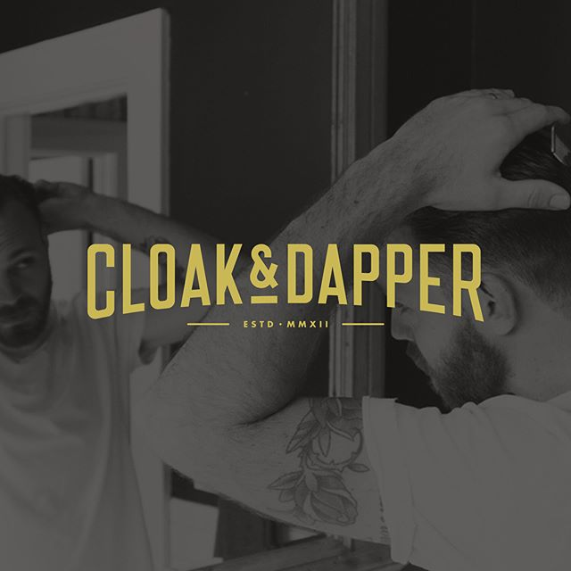 Scroll thru 👉👉👉 Been working on the portfolio recently and inevitably, got caught up looking at a few of the old projects. This branding project in particular, for local #orlando establishment @cloakanddapper by @calvincearley. This custom logotype will forever be one of my favorites 👌