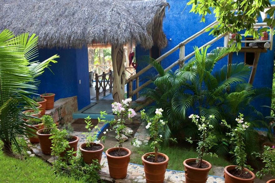 tropisch strandhuis