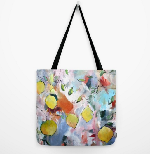 """When Life Gives You Lemons, Paint Them"" Canvas Tote"