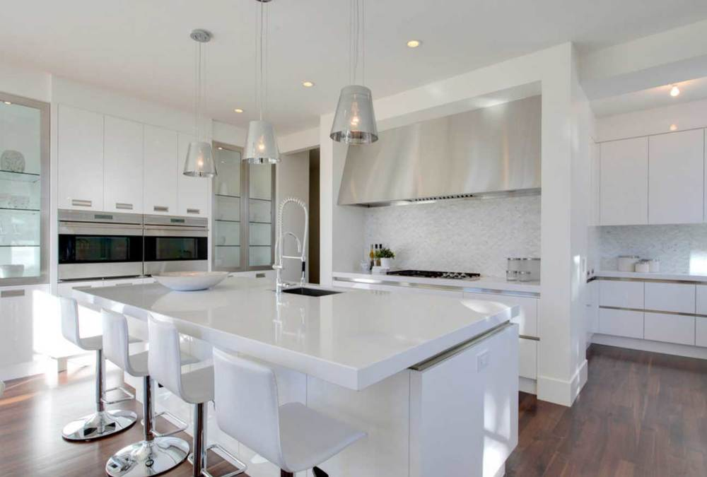 White Quartz Kitchen Countertops quartz — la shop À granite