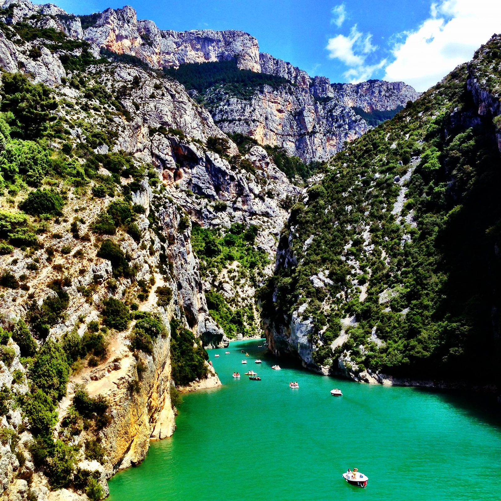 Stunning turquoise waters of the Gorges Du Verdon - France's best kept secret.