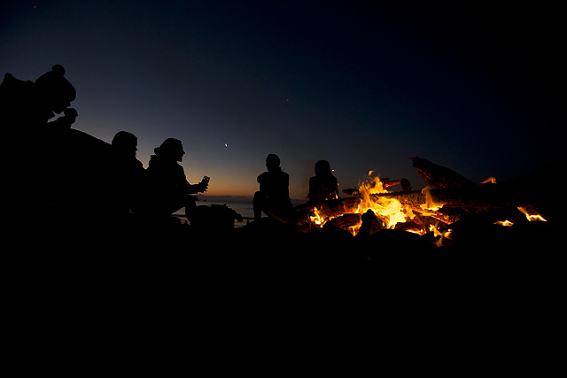 Cable Bay campfire.
