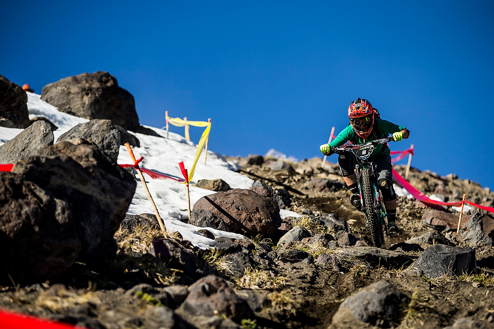 Rugged, volcanic, blue skies, big country - what an enduro should be.
