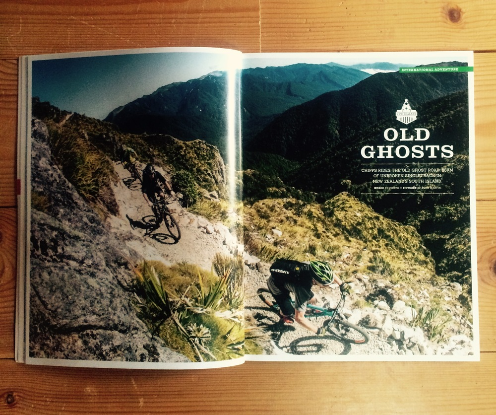 Singletrack Mag 2015 The Old Ghost Road, NZ article
