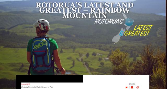 Flow Australian Magazine - Rotorua feature for NZ Tourism 2015