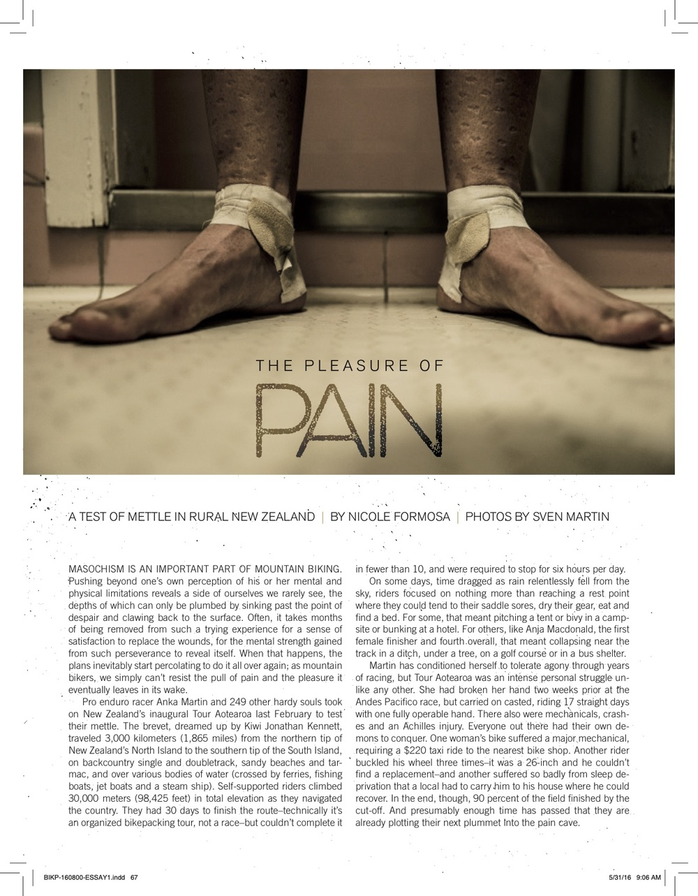 The Pleasure of Pain in latest Bike Magazine issue - August 2016