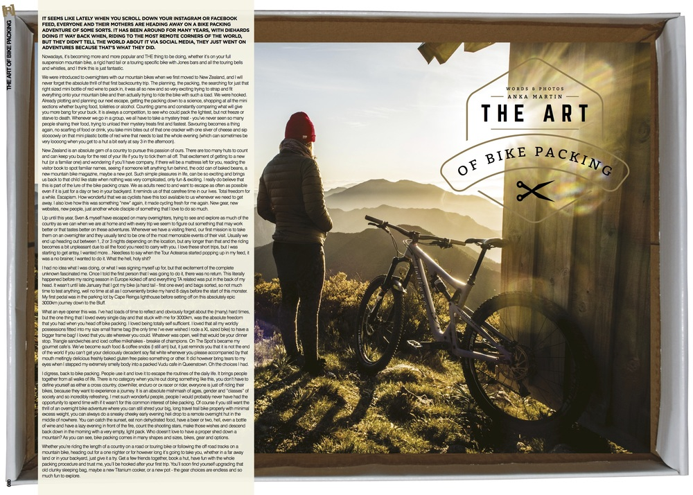 The art of bikepacking column in Revolution AUS.