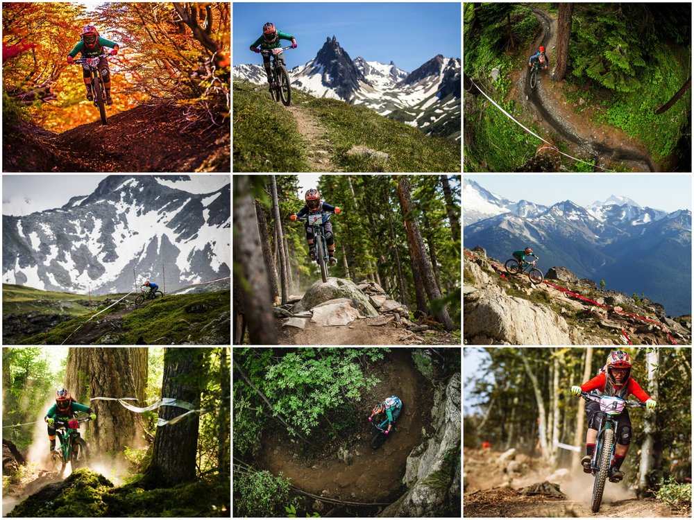 2014 EWS Season:      Chile South America, Valloir France, La Thuile Italy, Winter Park CO, Whistler Canada, Finale Ligure, Italy.