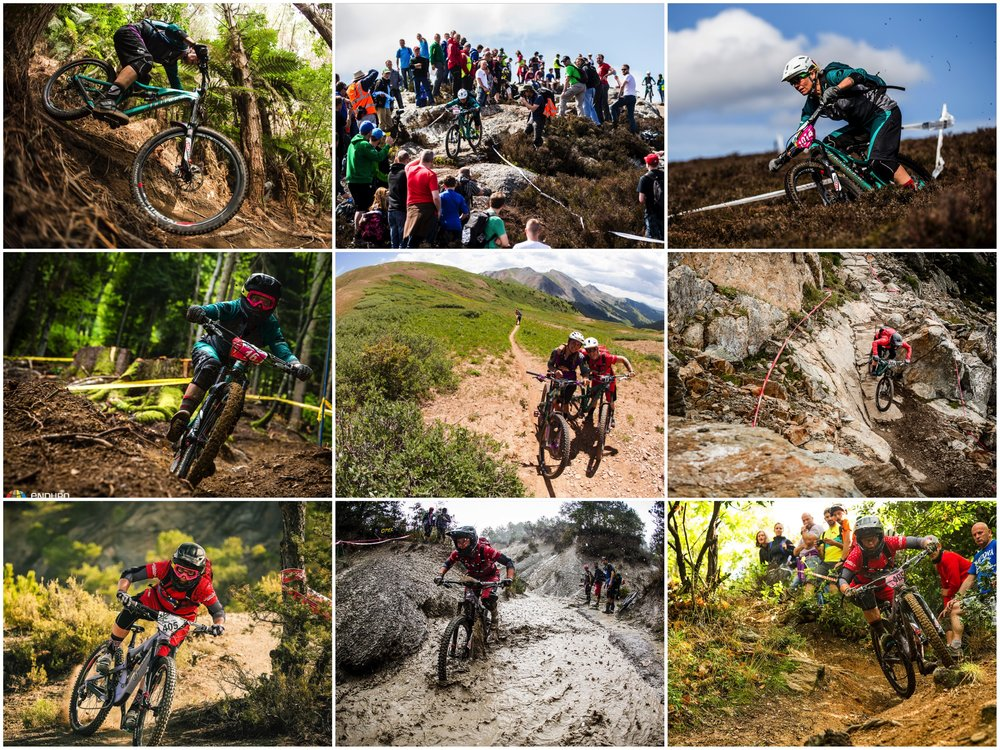 2015 EWS Season:    Rotorua New Zealand, Wicklow Ireland, Peebles Scotland, Samoens France, Crested Butte CO, Whistler Canada, Ainsa Spain, Finale Ligure Italy.