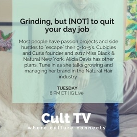 Cult TV Episode 3: Grindin' but NOT to quit your day job - I joined Candace of Cult TV on her weekly live steam to talk about the