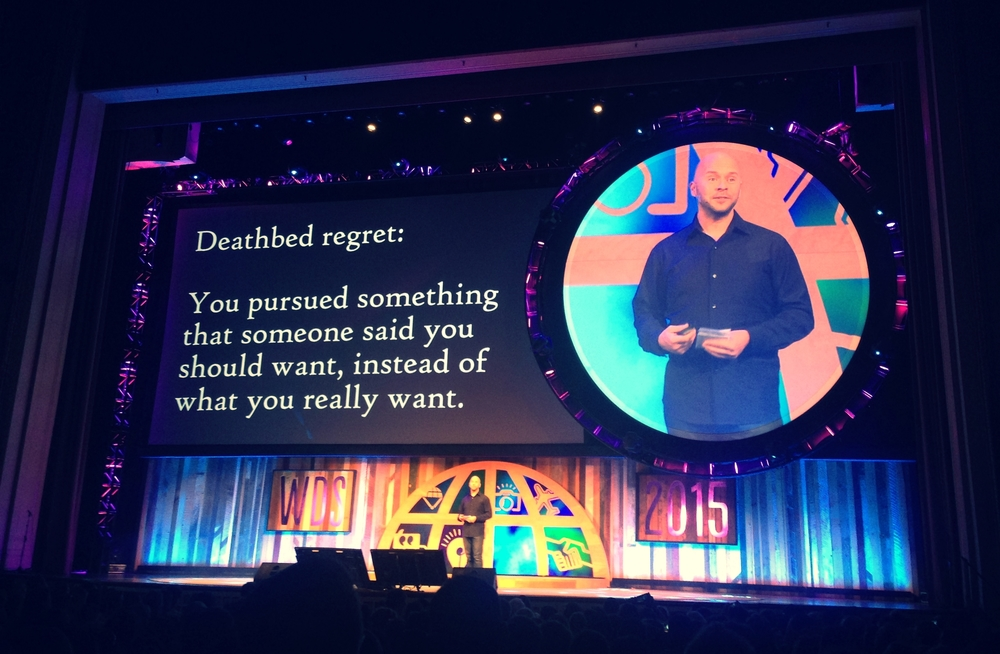 Derek Sivers closing out the keynotes