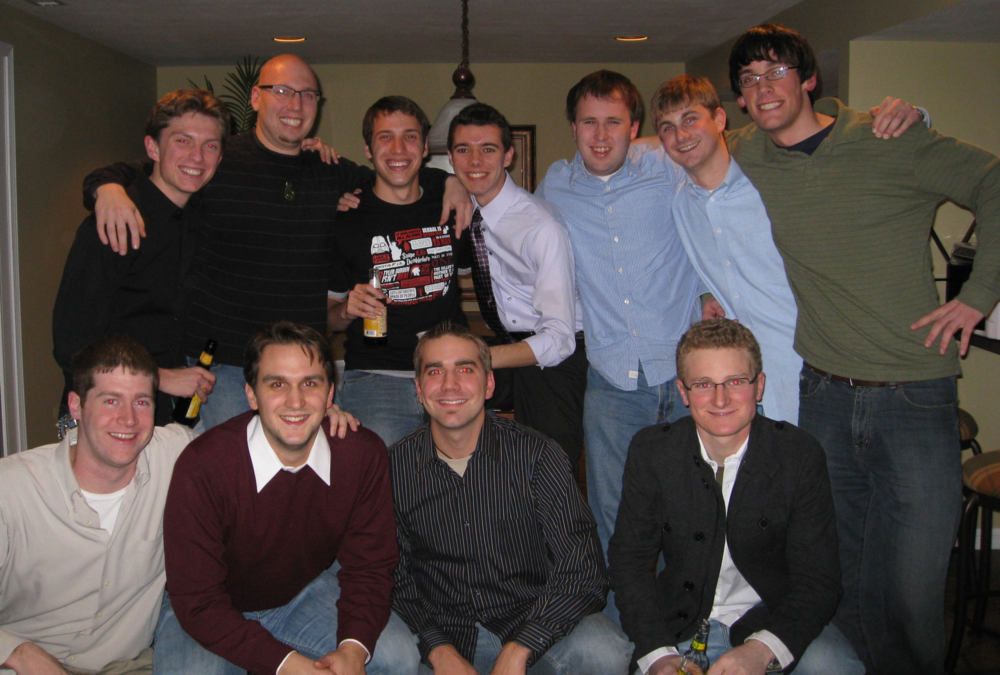 More or less the same DeSmet crew, 4 years years after graduation. Here's a toast to friendship!