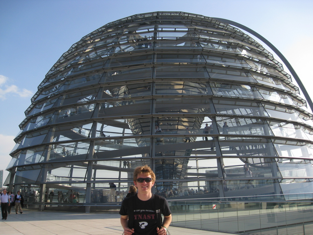 In front of the Reichstag on my first Eurotrip - 11 countries, 3 months - back when seeing  everything  was the priority (Berlin, Germany, 2010)