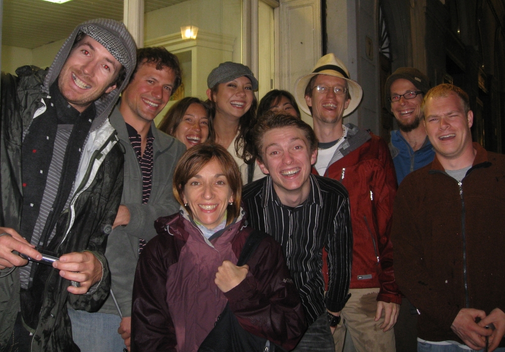 That one time my new hostel connections from the Cinque Terre followed me to Florence...where it was also raining. Sensing a reoccurring theme in my travels? (Italy 2010)