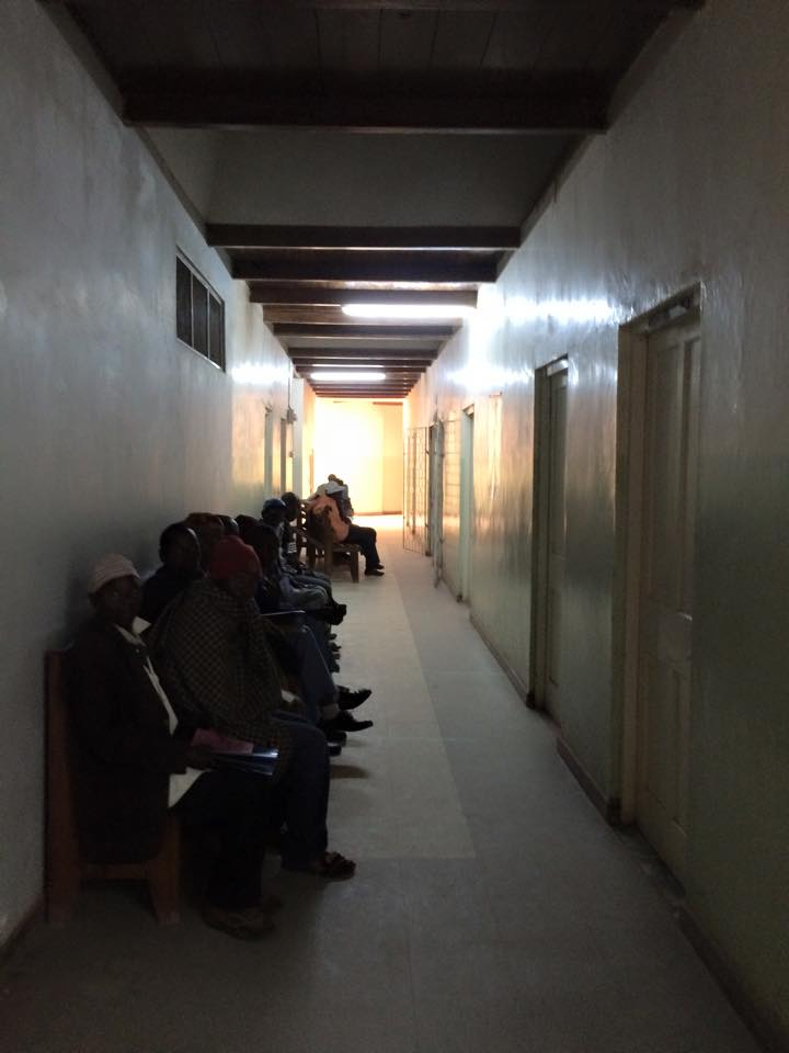 Patients wait at the only hospital in a district of 272,000 people. (Laura Payton)