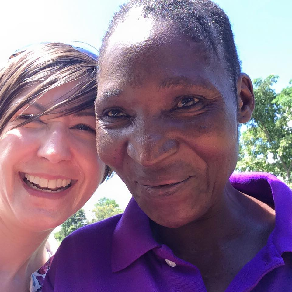 Me with a Care Canada community health worker in Tabora region.