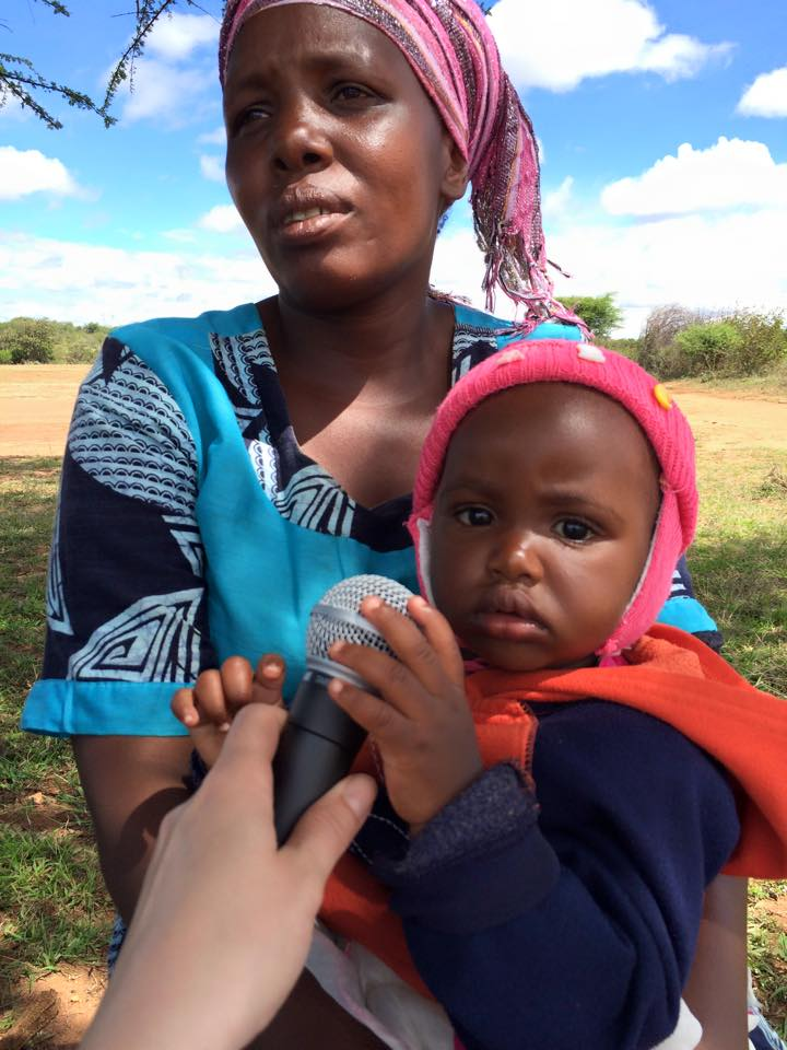 Rehema Shabani with daughter Samia Juma talks about a Canadian government-funded development program in Tanzania's Singida region. (Laura Payton)