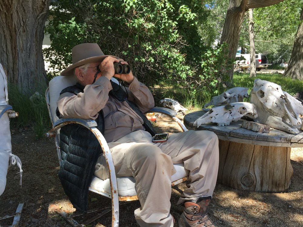 GBBO co-founder Jim Eidel birding. Photo by Graham Chisholm.