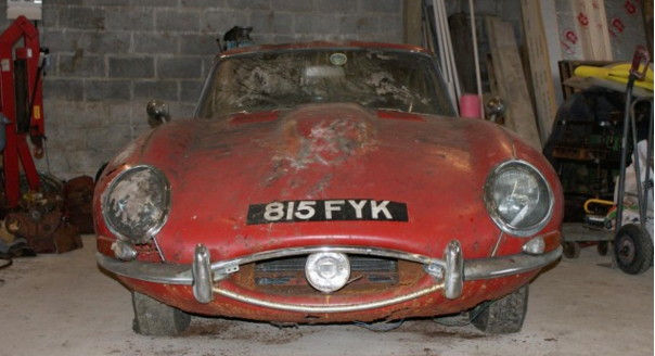 Jaguar E-Type with ties to the Beatles. Photo Credit http://www.motorauthority.com