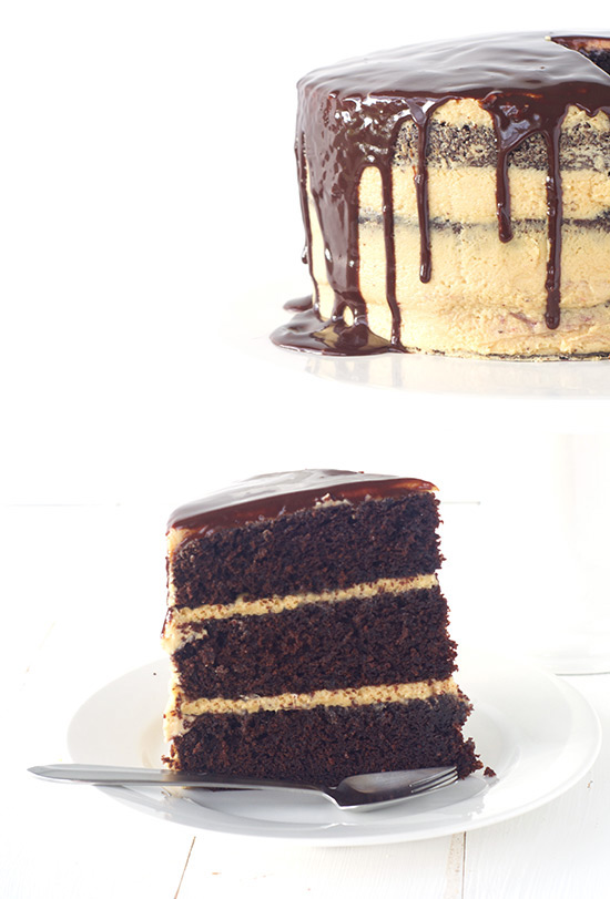 Peanut Butter Chocolate Layer Cake | Sweetest Menu