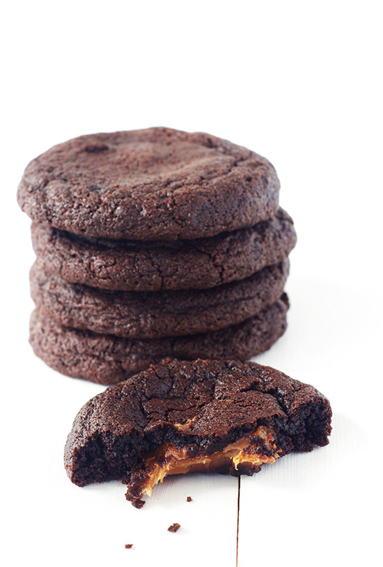 Caramel Stuffed Chocolate Cookies | Sweetest Menu