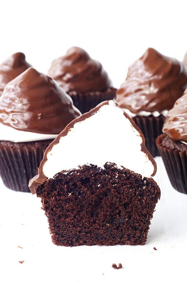 High Hat Chocolate Cupcakes