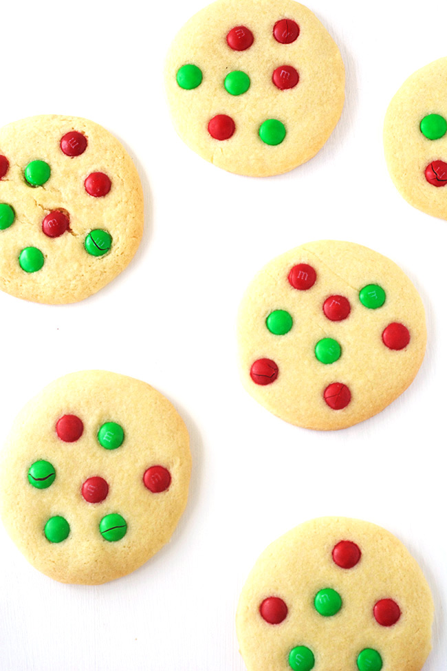 M&M Christmas Sugar Cookies