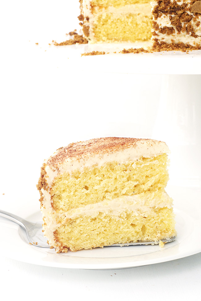 Eggnog Cake with Cinnamon Frosting