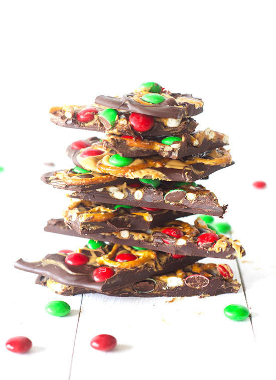 Peanut Butter Pretzel Candy Bark