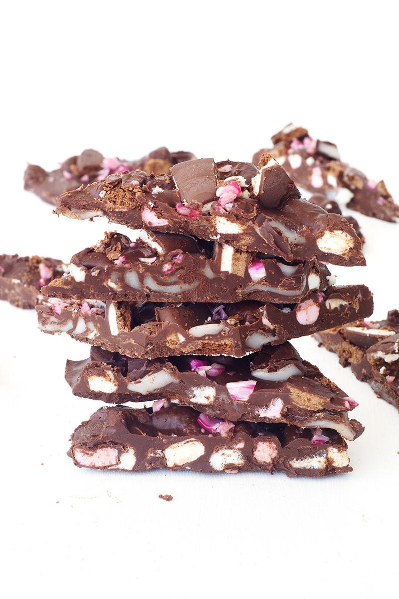 Peppermint Crunch Rocky Road Bark