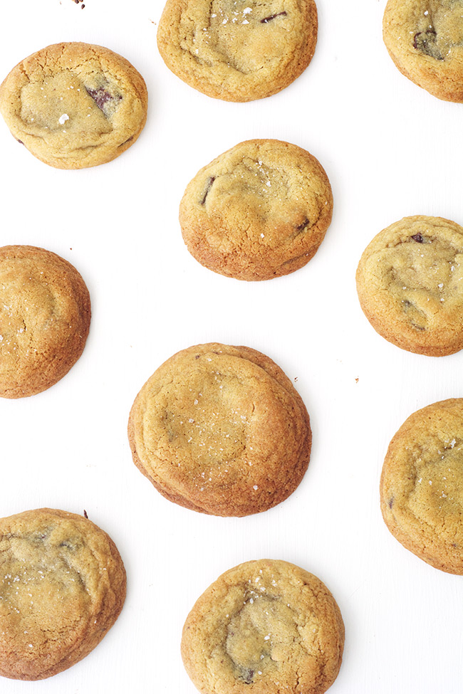 The perfect thick and chewy Chocolate Chip Cookies