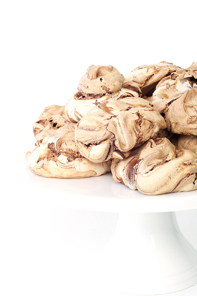 Easy Nutella Meringues made with just three ingredients!