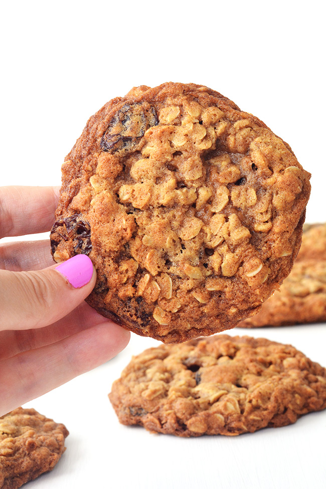The BEST Chewy Oatmeal Raisin Cookies