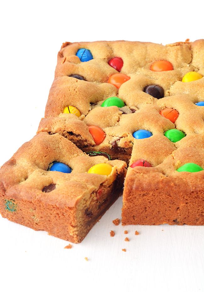 M&M Peanut Butter Cookie Bars   Sweetest Menu