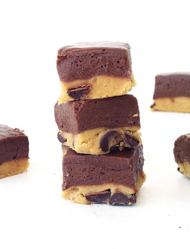 Cookie Dough Chocolate Fudge - the best of both worlds!