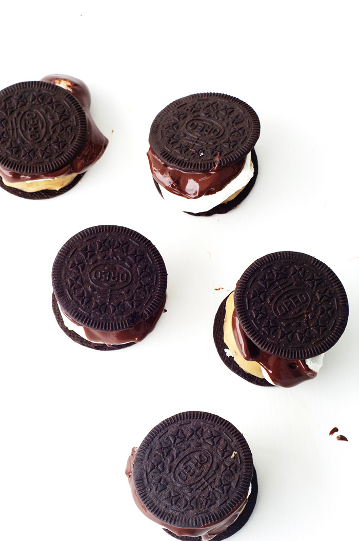 Oreo Thins Cookie Dough Smores Sandwiches | Sweetest Menu