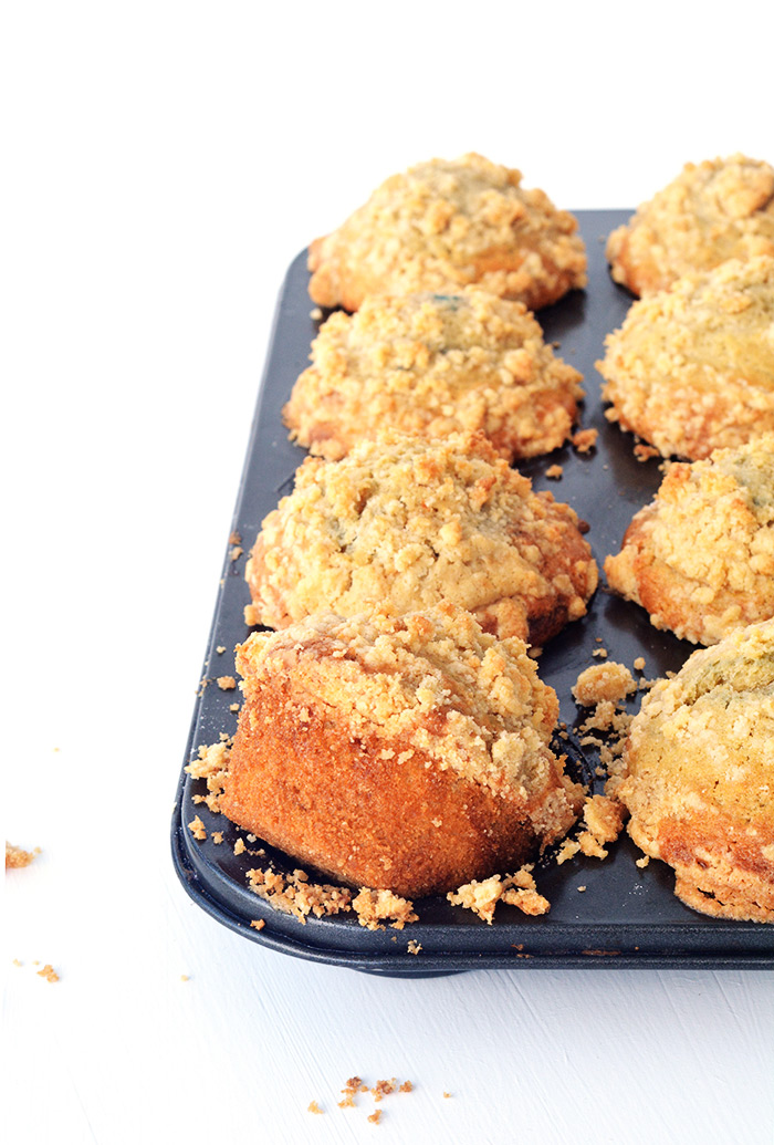 Big bakery-style Blueberry Crumble Muffins | Sweetest Menu