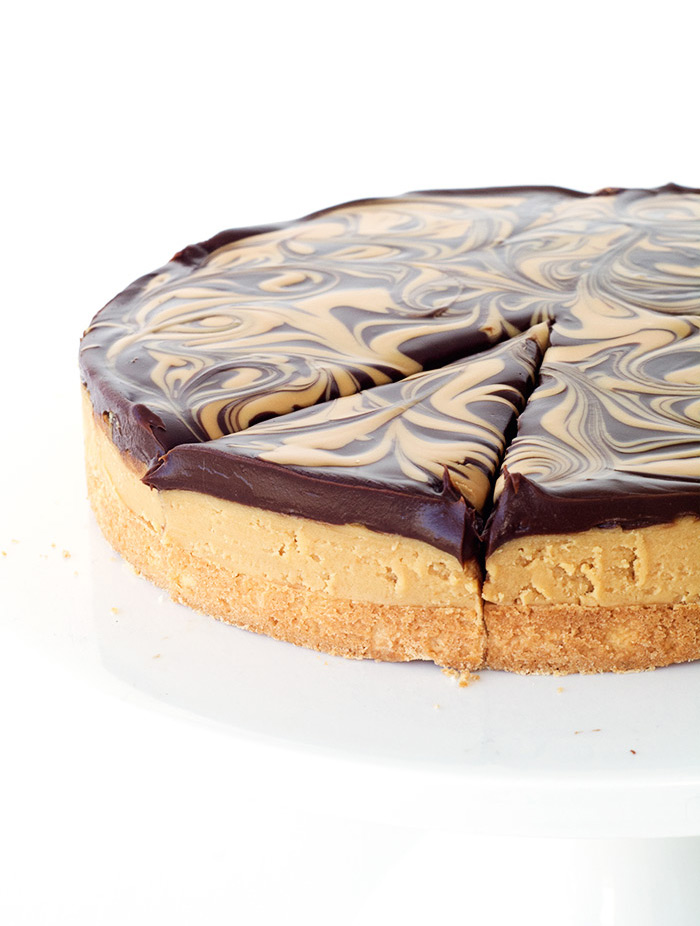 Chocolate Peanut Butter Tagalong Pie | Sweetest Menu