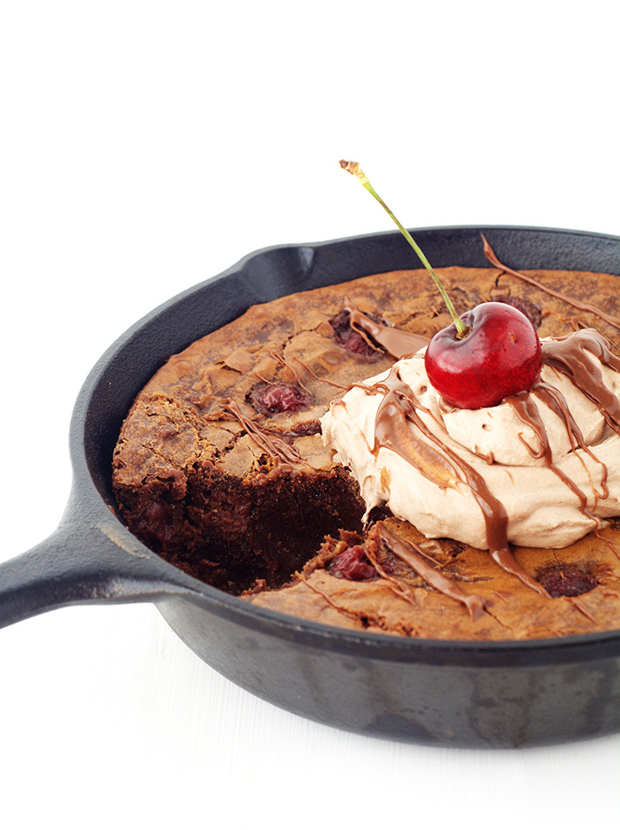Black Forest Skillet Brownie | Sweetest Menu
