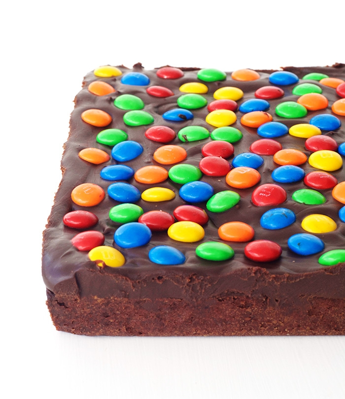 M&M Chocolate Frosted Brownies | Sweetest Menu