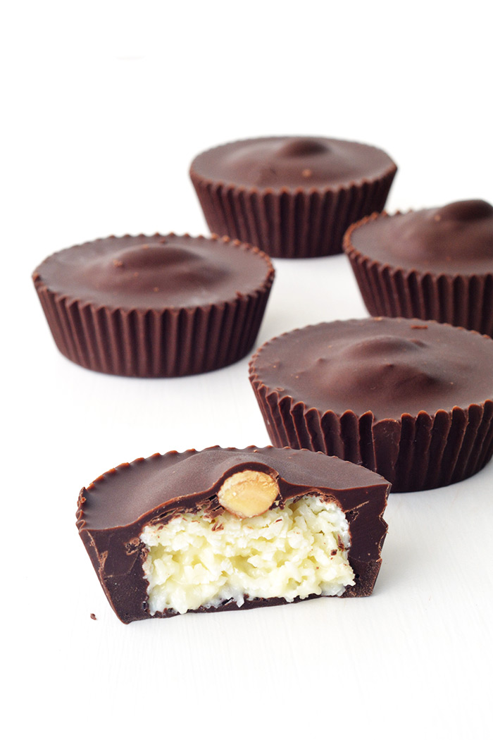 No bake Almond Joy Coconut Chocolate Cups | Sweetest Menu