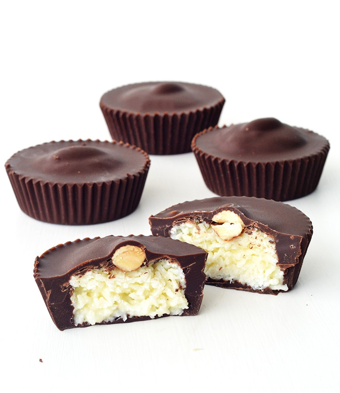 No bake Almond Joy Coconut Chocolate Cups | Sweetest Menu