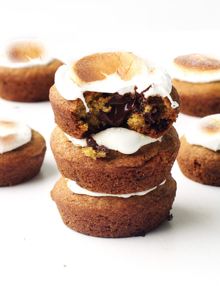 Smores Chocolate Chip Cookie Cups | Sweetest Menu