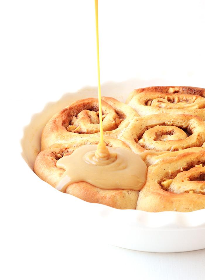 Homemade Caramel Apple Cinnamon Rolls | Sweetest Menu