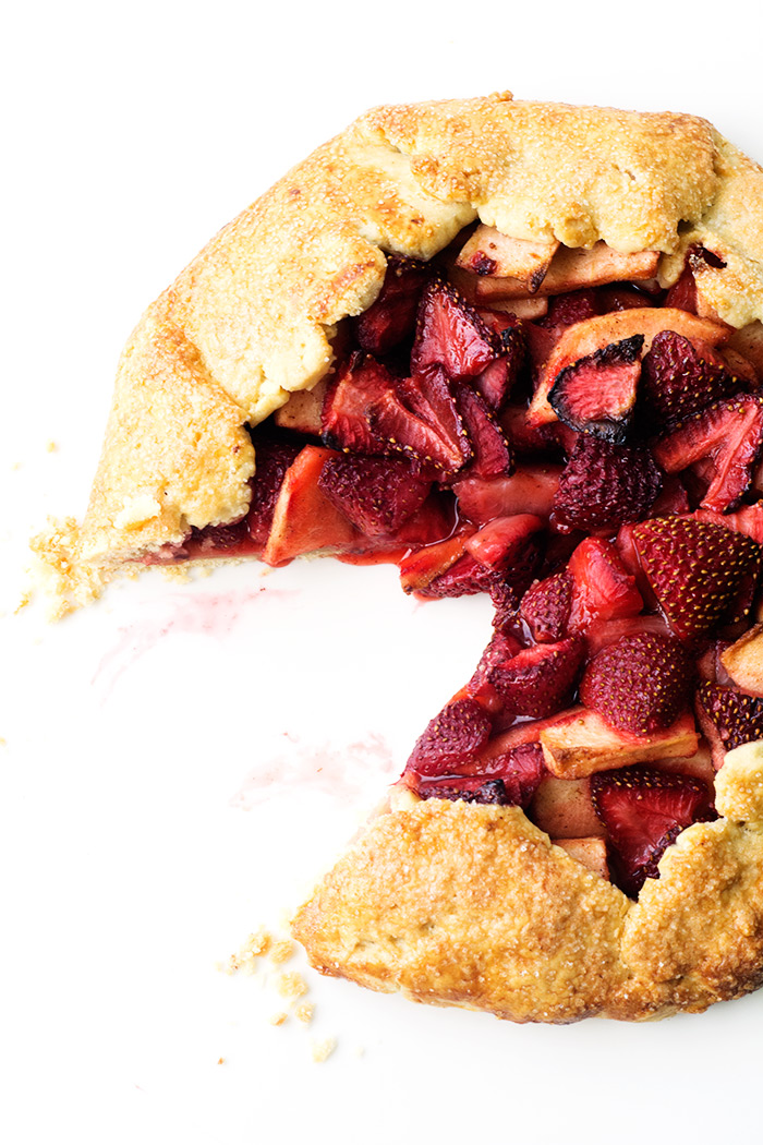 Super Simple Strawberry Apple Galette | Sweetest Menu