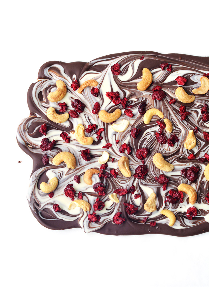 Cherry and Cashew Chocolate Bark made with just four ingredients | Sweetest Menu
