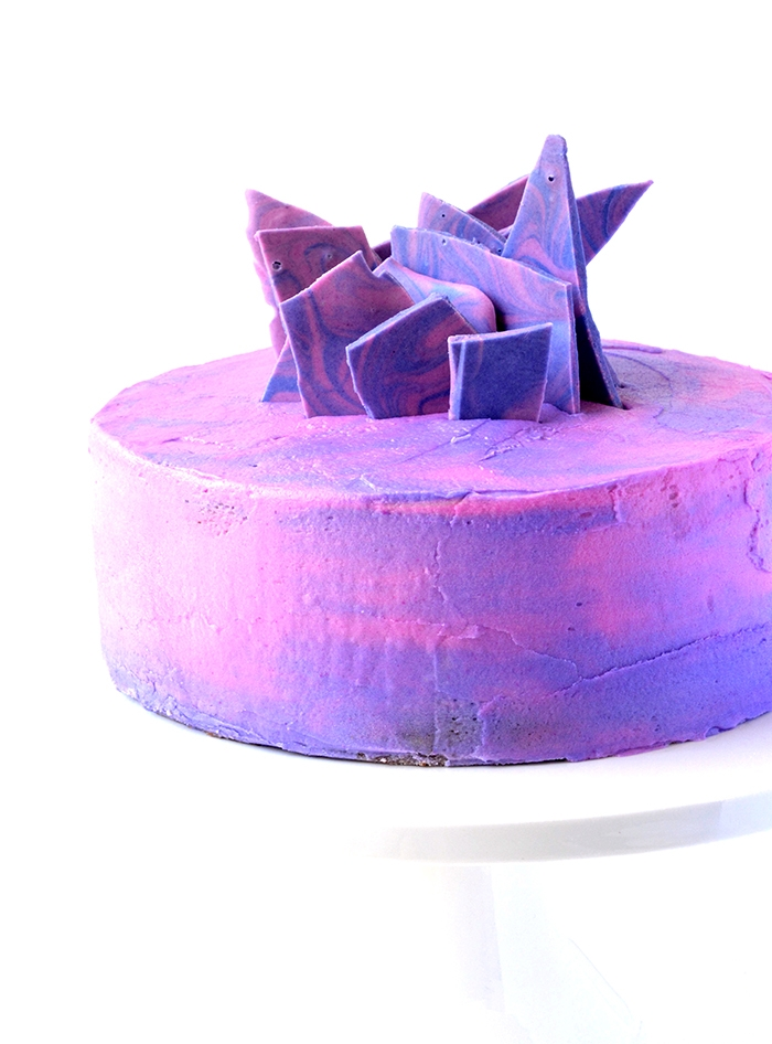 Purple Marble Vanilla Layer Cake — Sweetest Menu